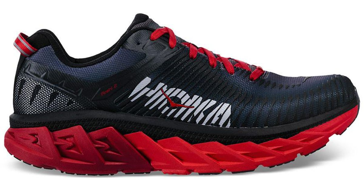Lyst - Hoka One One Men s Hoka E E Arahi 2 Running Shoe in Red for Men 8589485a1cf
