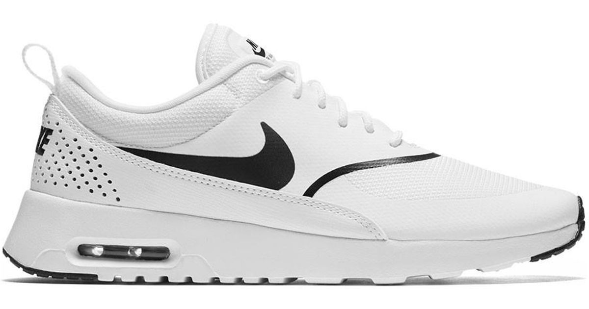 wide range cheap prices autumn shoes Nike Synthetic Women's Air Max Thea Running Shoes in White/Black ...