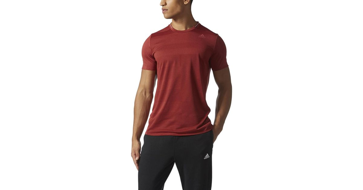 417ab0155fc6f Lyst - adidas Originals Men s Supernova Short Sleeve - Mystery Red in Red  for Men