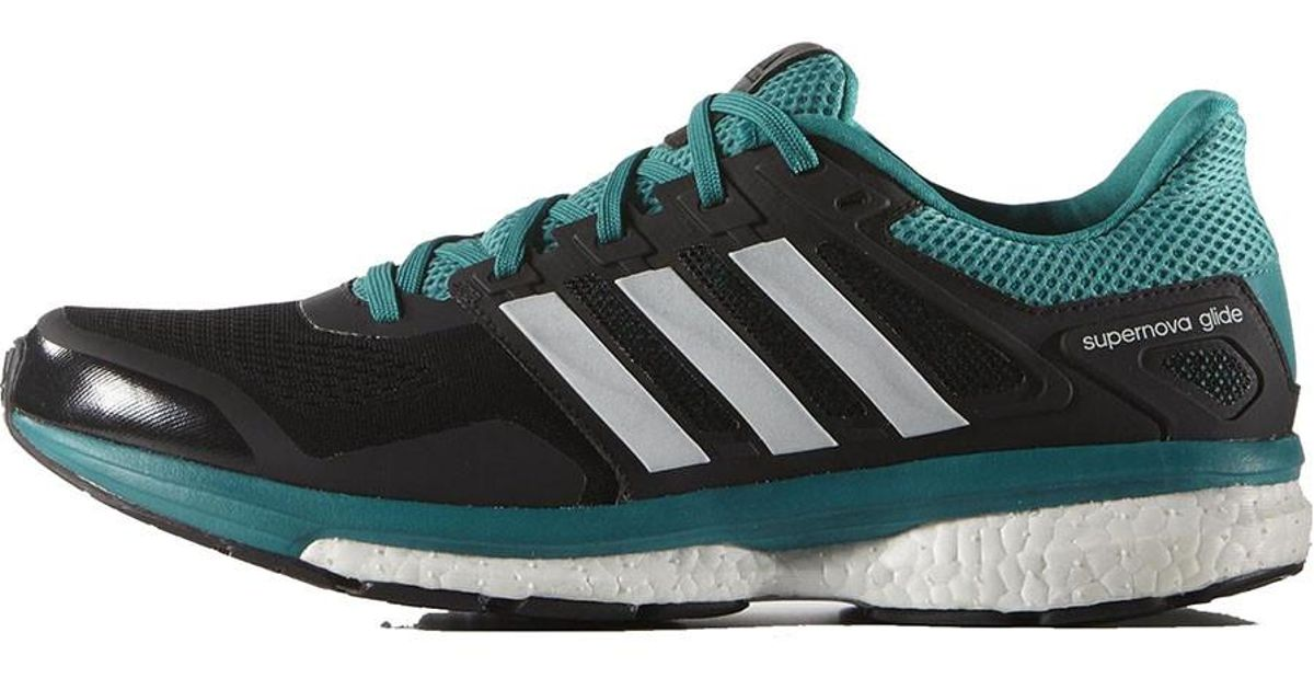 adidas Supernova Glide 8 M Black Green White Mens Cushion
