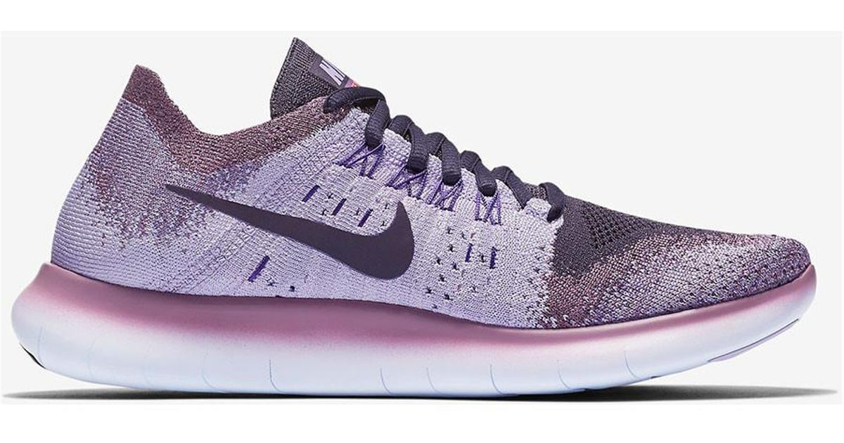 the best attitude e25ca 05adf Nike Purple Women's Free Rn Flyknit 2017 Running Shoe