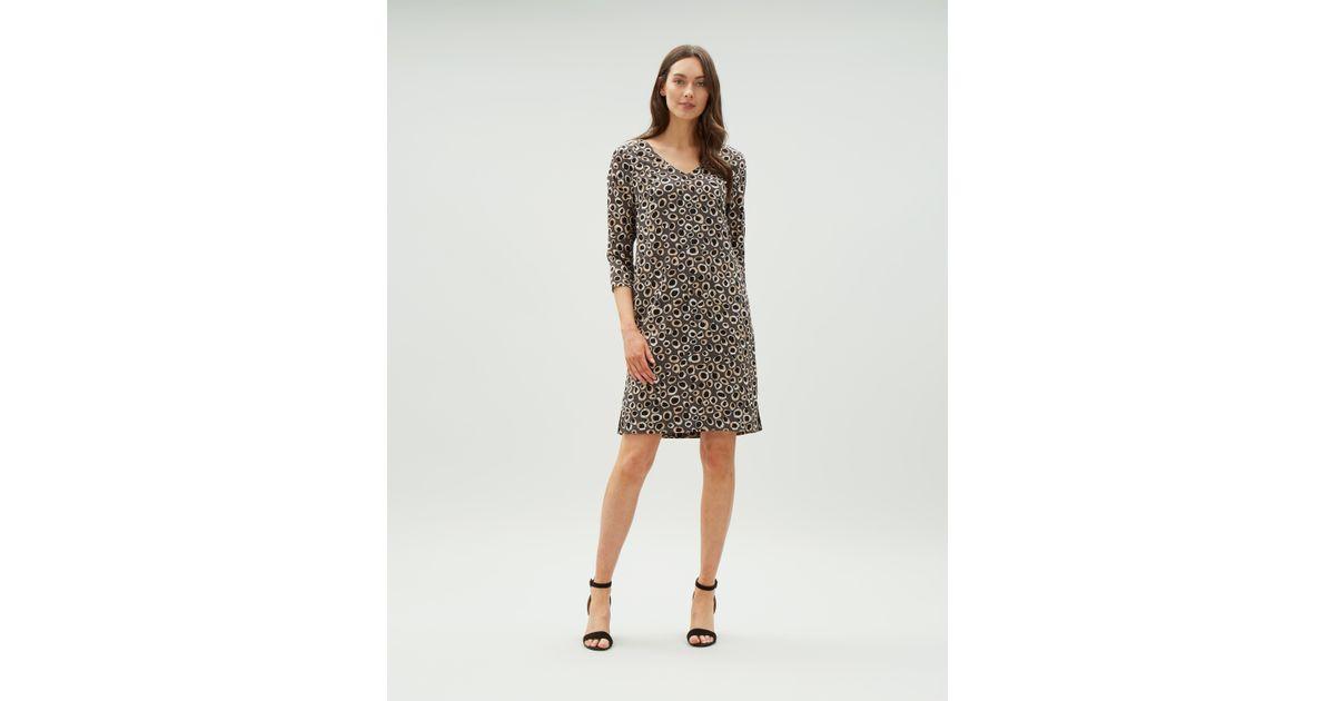 Lyst - Jaeger Animal Print Dress in Gray 11d9267c6