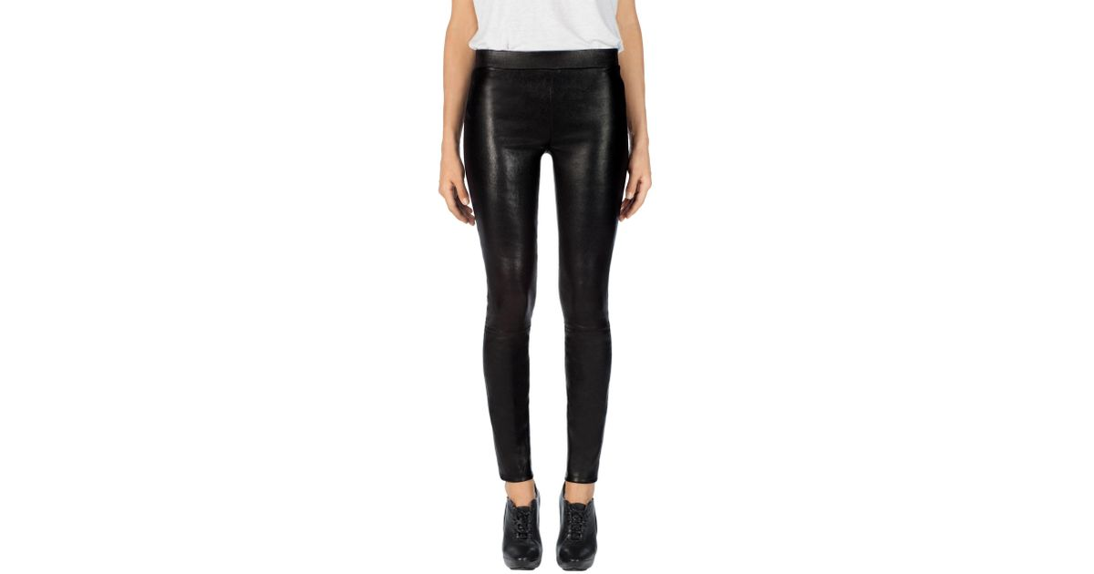 f4093154dae9c1 J Brand L8007 Edita Mid-rise Leather Legging in Black - Lyst