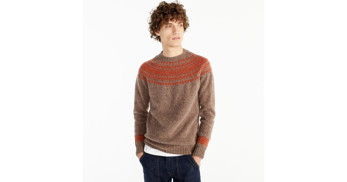 c884e65e22 Lyst - J.Crew Harley Of Scotland Nor easterly Sweater in Brown for Men