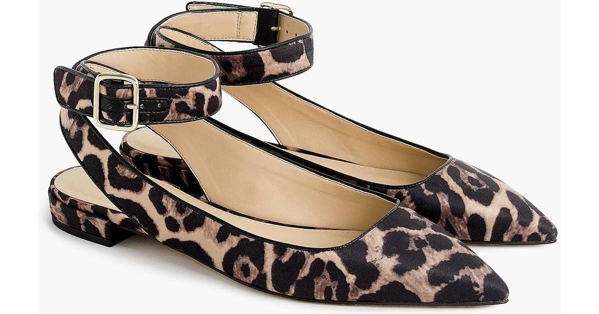 j crew cheetah flats