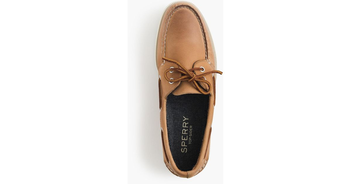 d4b47e8dbb6 Lyst - Sperry Top-Sider Authentic Original 2-eye Boat Shoes In Leather in  Brown for Men