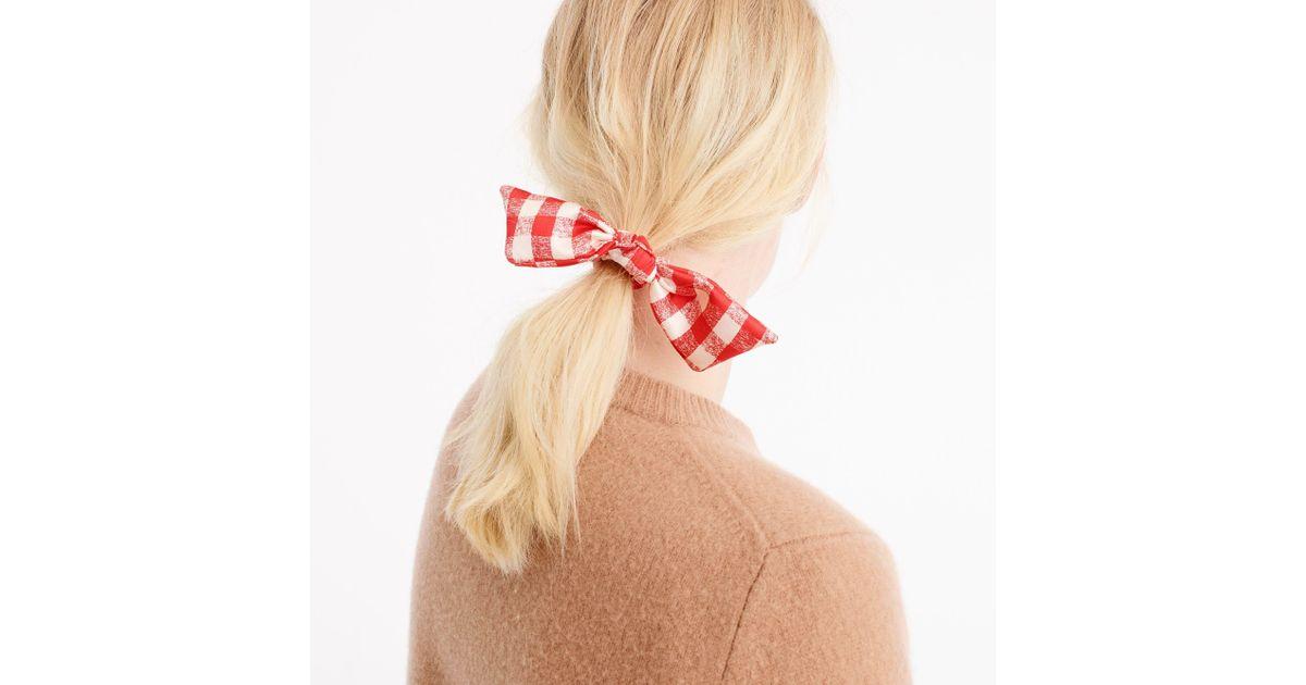 J.Crew Gingham Hair Tie - Lyst b12efd19887