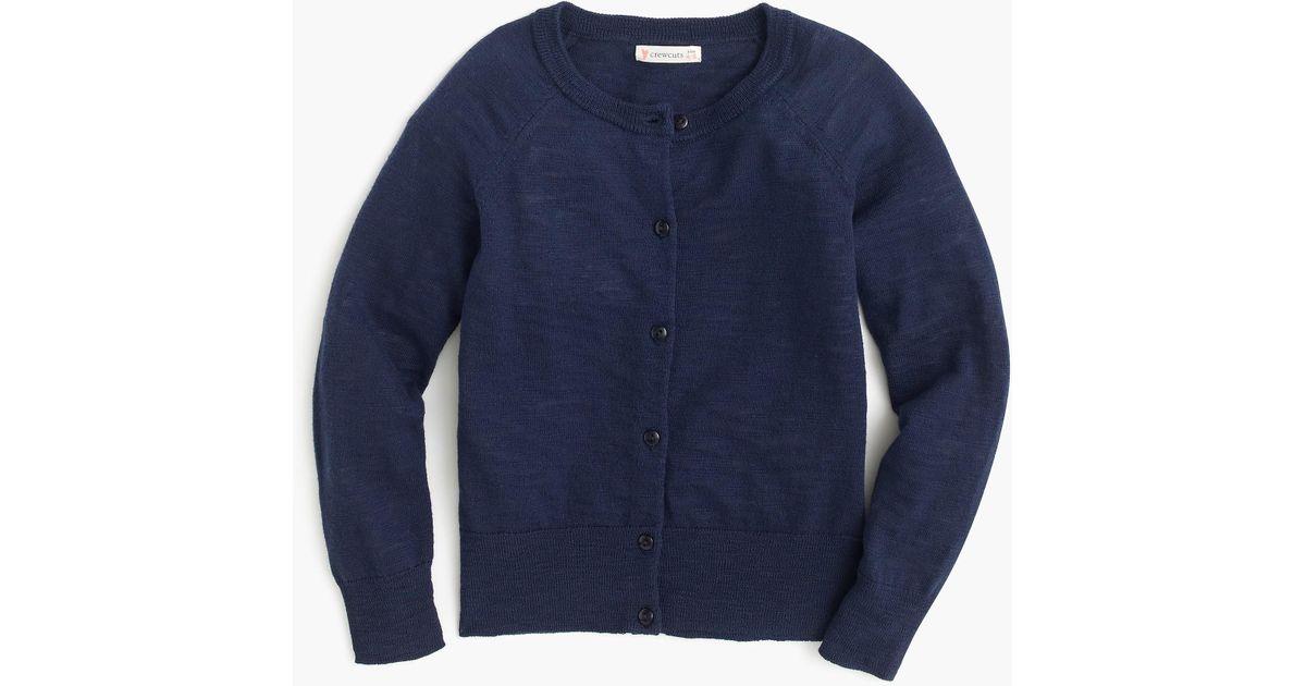 9db6969b5dd4b Lyst - J.Crew Girls' Caroline Cardigan Sweater in Blue