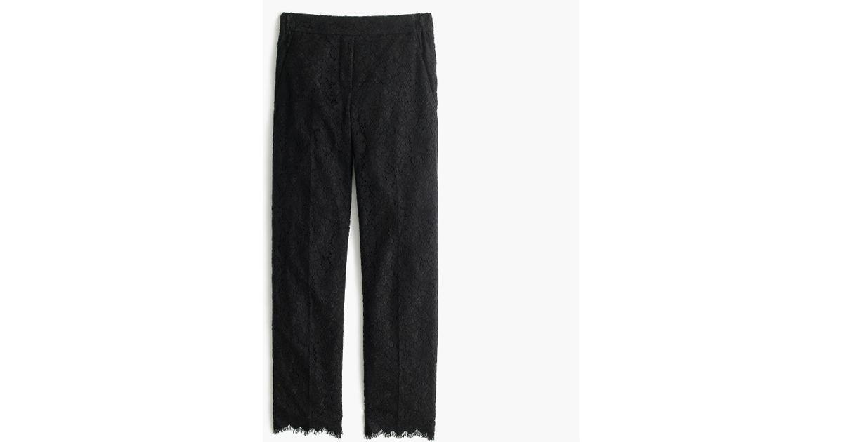 bfa71a96 J.Crew Black Tall Lace Pant