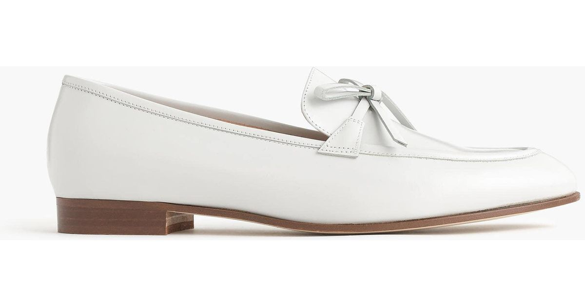 e432b18f6ac Lyst - J.Crew Academy Loafers In Leather in White