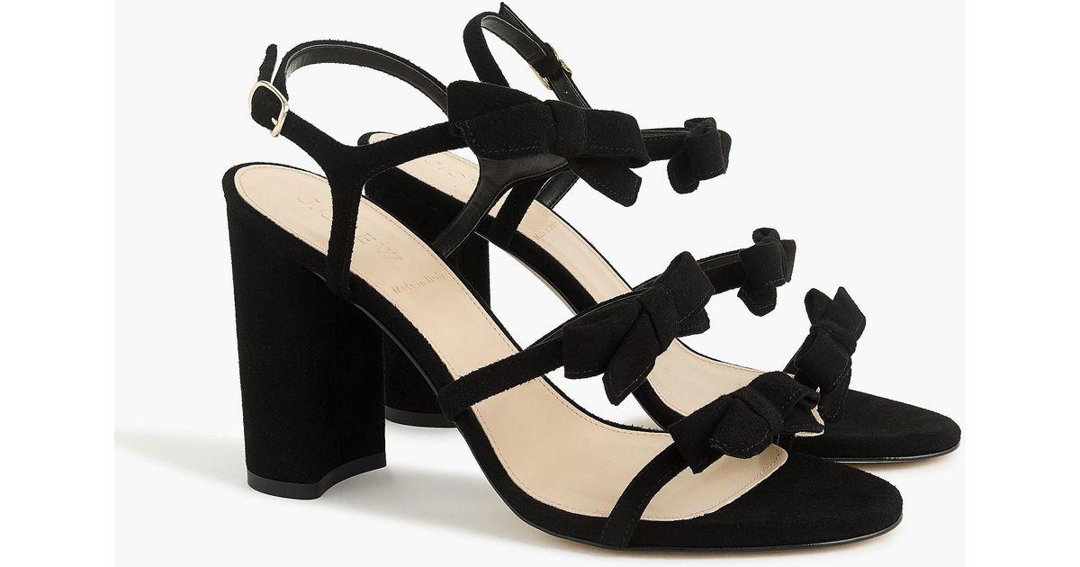 96d7343cda1 Lyst - J.Crew Stella Bow Heels (100mm) In Black in Black