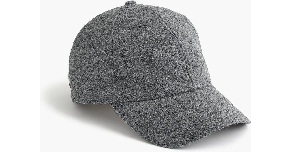 0745e5e9962e3 J.Crew Grey Wool Ball Cap in Gray for Men - Lyst