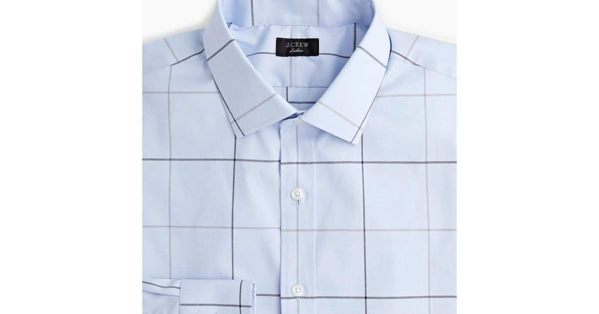 de9891434f13 Lyst - J.Crew Ludlow Stretch Two-ply Easy-care Cotton Dress Shirt In Sky  Tattersall in Blue for Men