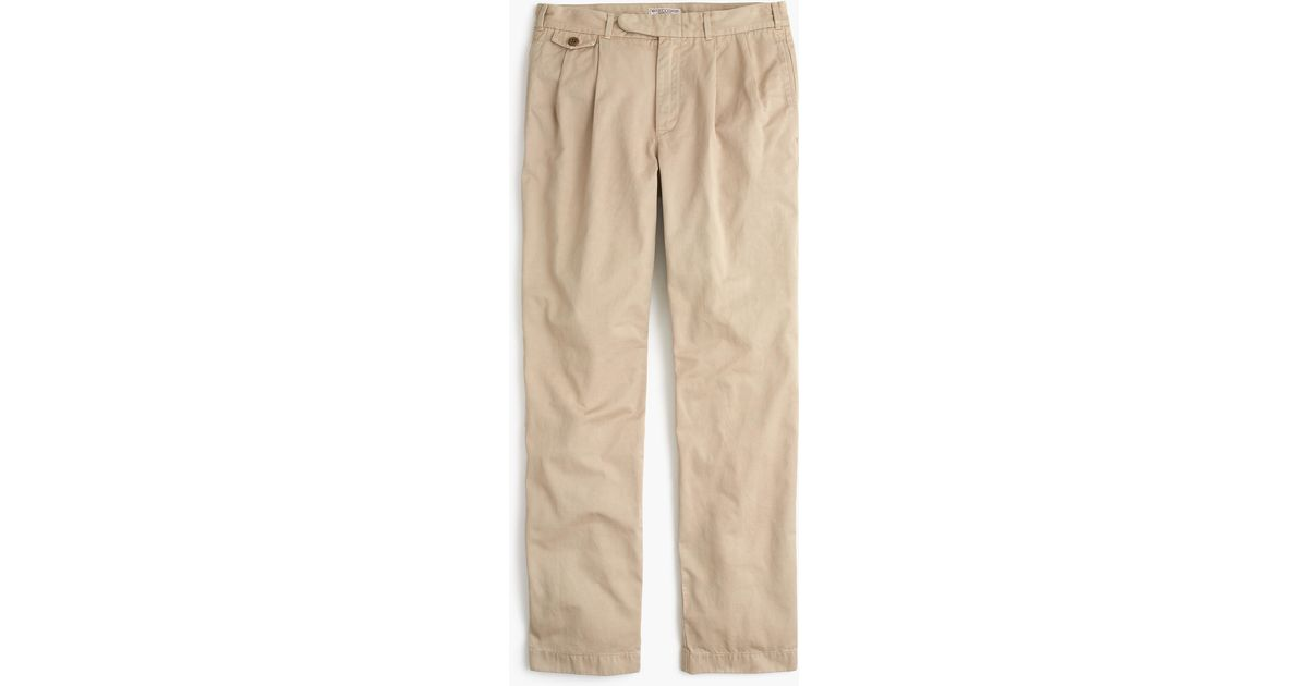 278ebb5c013a Lyst - J.Crew Wallace   Barnes Double-pleated Relaxed-fit Military Chino  Pant in Natural for Men
