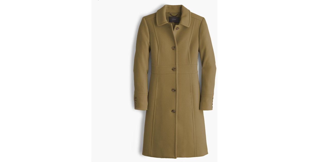 J Crew Italian Double Cloth Wool Lady Day Coat With Thinsulate Lyst