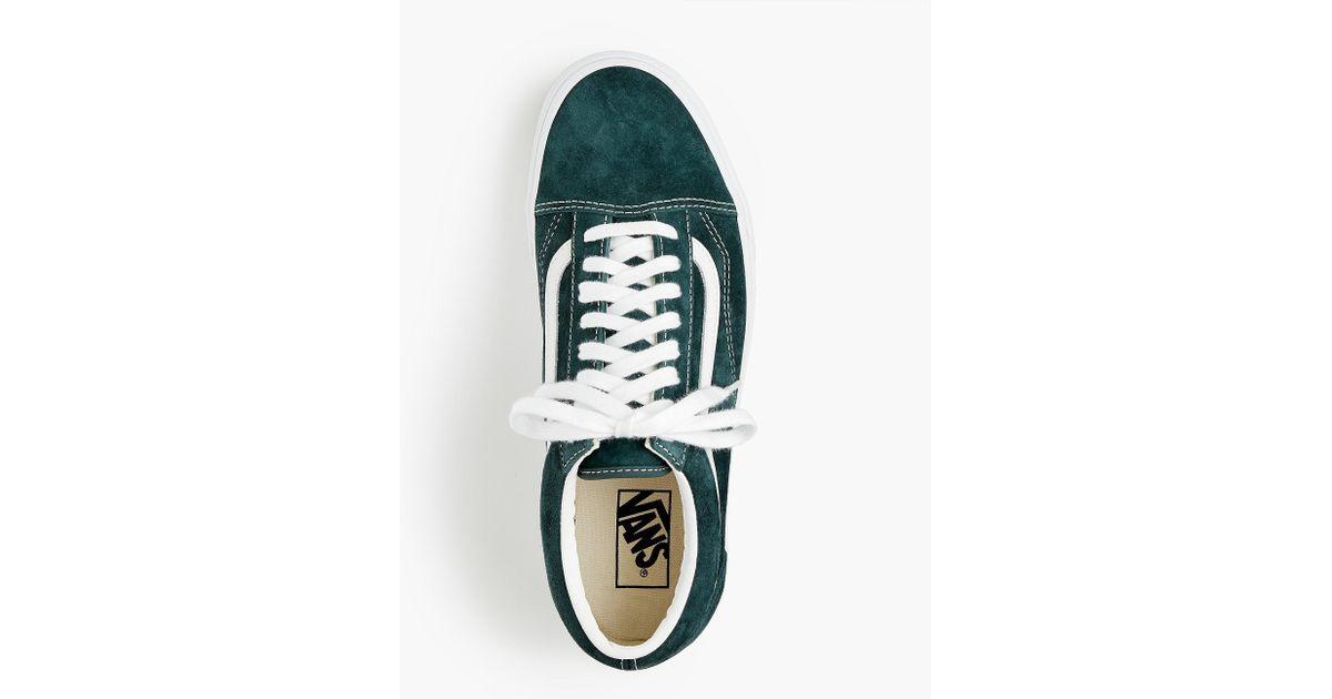Vans Old Skool Sneakers In Green Suede