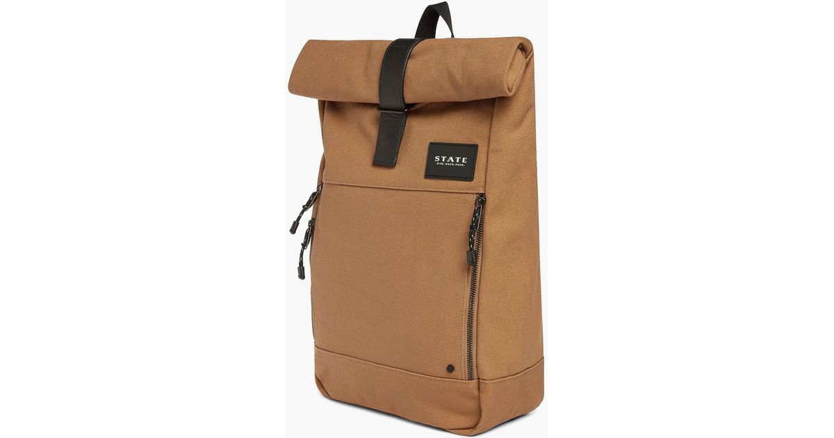 fdb2f53ed Lyst - J.Crew State Bags Colby Cotton Canvas Backpack in Brown for Men