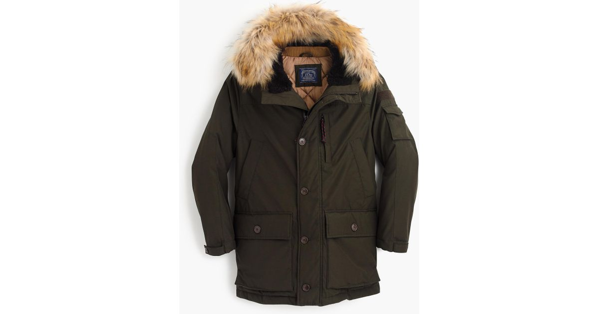 8f01a6f31 J.Crew - Green Nordic Down Parka for Men - Lyst