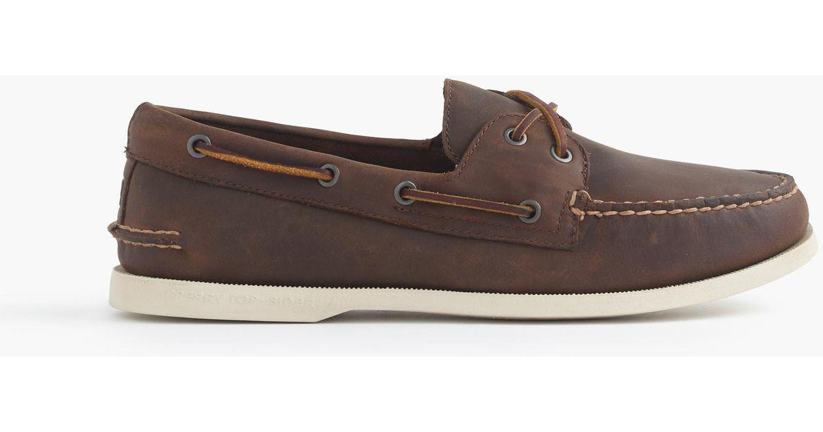 Lyst - J.Crew Sperry Authentic Original 2-eye Broken-in Boat Shoes in Brown  for Men