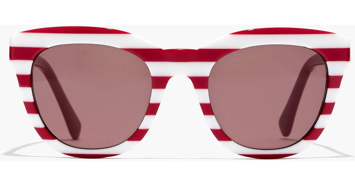 549e2066ff0 J.Crew Cabana Oversized Sunglasses in Red - Lyst