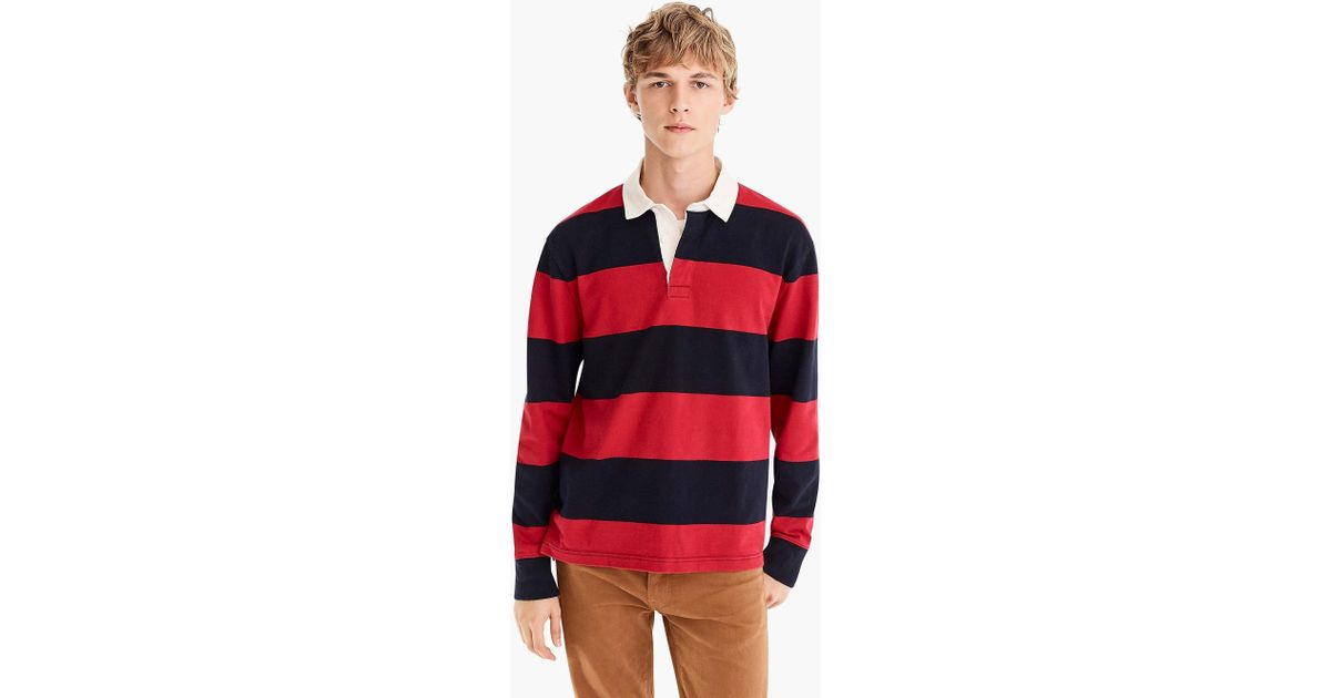 a44f7e0adf1 J.Crew 1984 Rugby Shirt In Gordon Stripe in Red for Men - Lyst