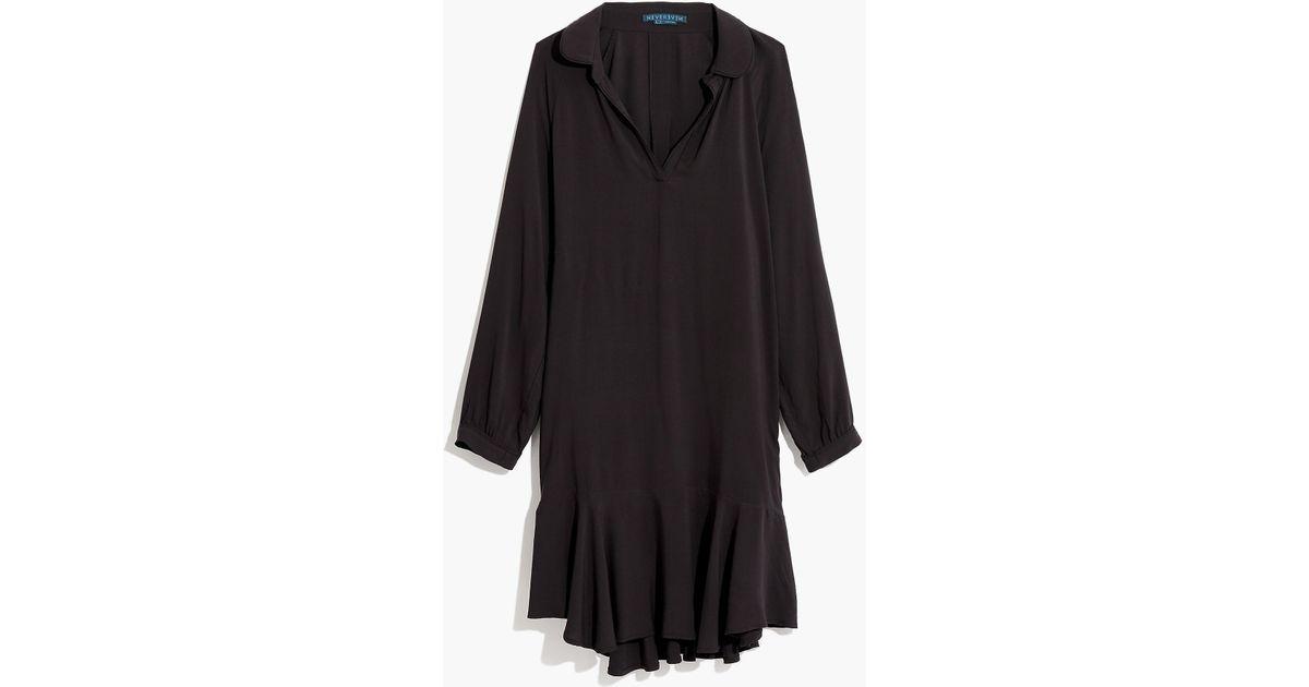 Lyst Jew Nevereven Long Sleeve Peplum Dress In Black