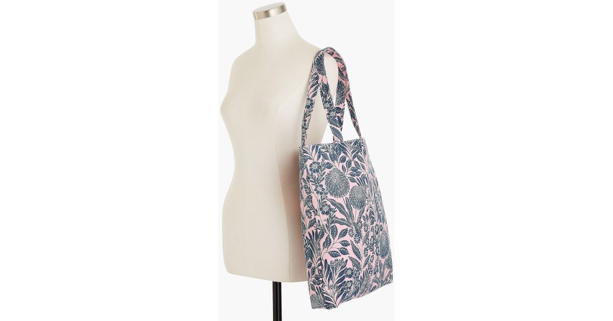 d01efd2836bd Lyst - J.Crew X Abigail Borg Reusable Canvas Tote in Pink