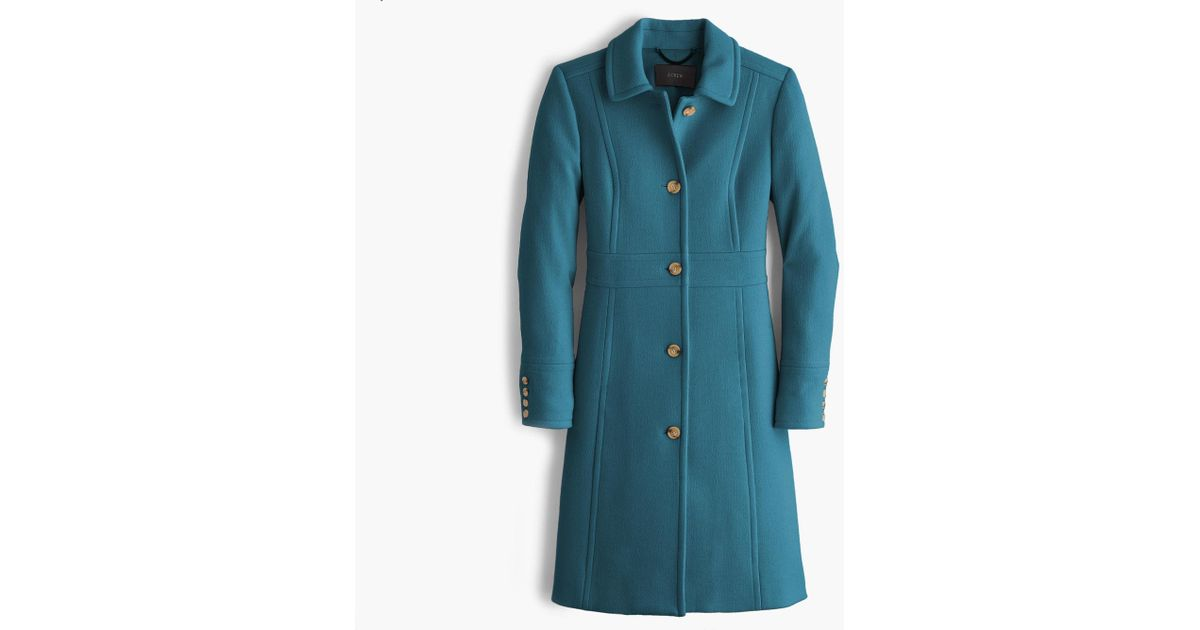5c3543aff J.Crew Blue Italian Double-cloth Wool Lady Day Coat With Thinsulate