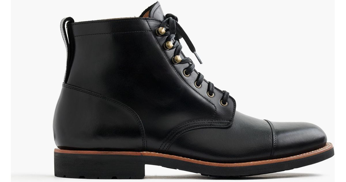 J.Crew Kenton Leather Cap-toe Boots in