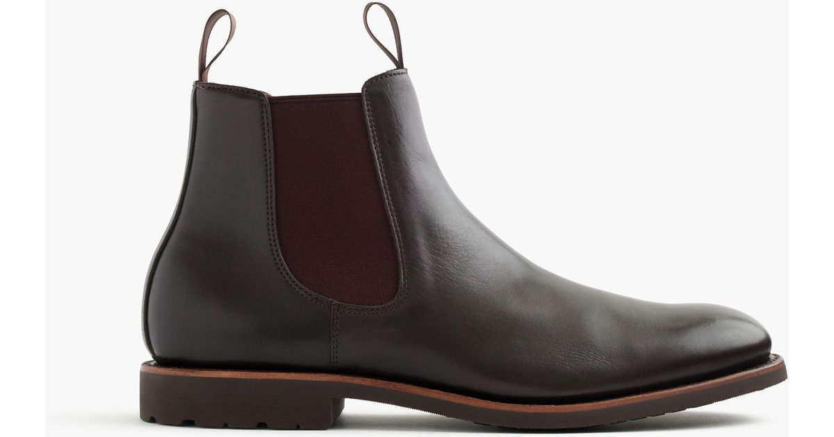 fashionable and attractive package separation shoes available J.Crew Brown Kenton Leather Chelsea Boots for men