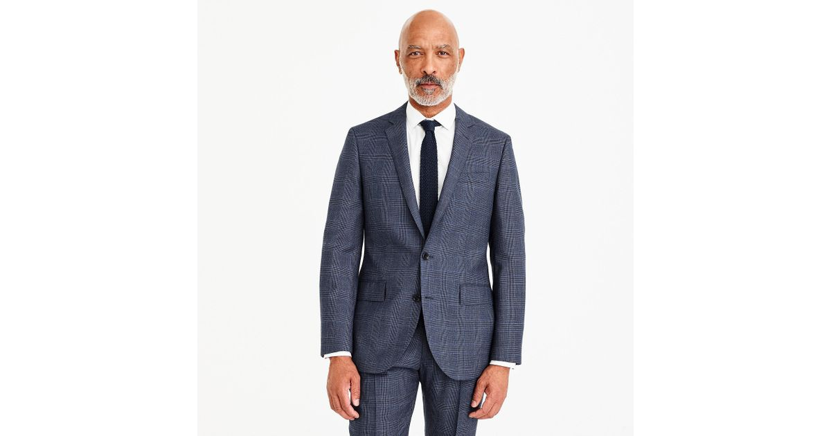 e2088b2648093 J.Crew Ludlow Slim-fit Suit Jacket In Blue Glen Plaid American Wool in Blue  for Men - Lyst