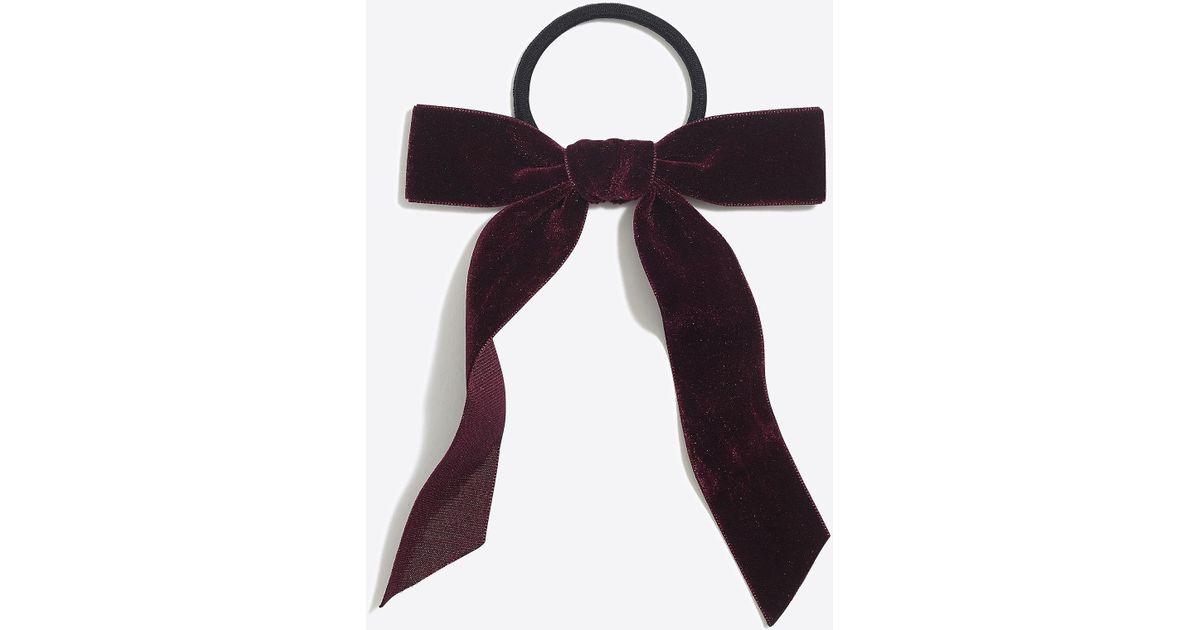 Lyst - J.Crew Velvet Bow Hair Tie 4477ef2e4e4