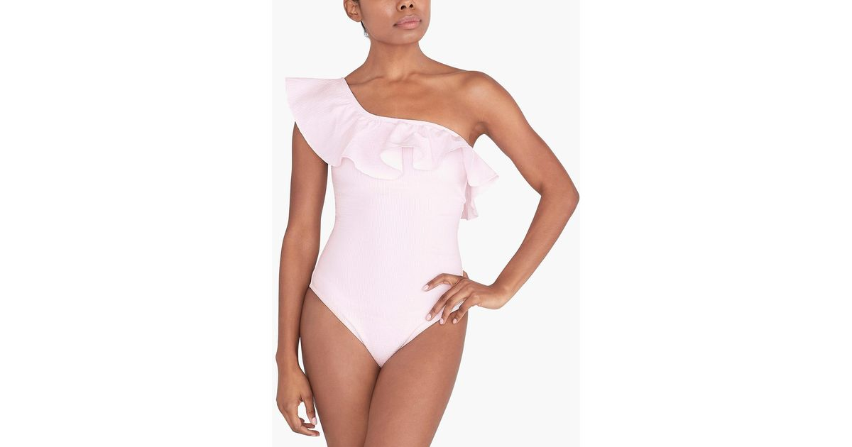 Figleaves Womens Camilla One Shoulder One Piece Bathing Suit