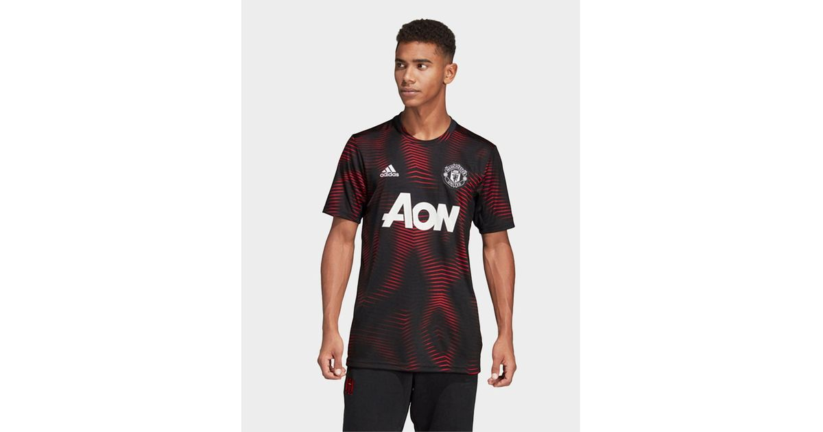 862879a3a adidas Manchester United Home Pre-match Jersey in Black for Men - Lyst