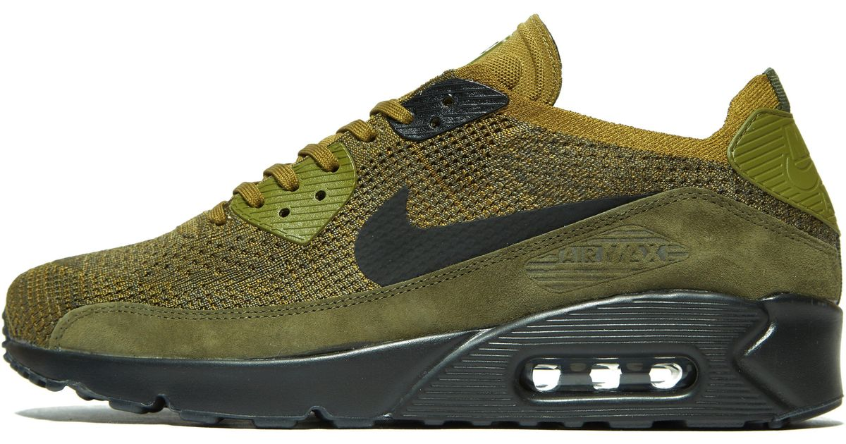 sneakers for cheap acc6e 184b5 Nike Green Air Max 90 Ultra 2.0 Flyknit for men