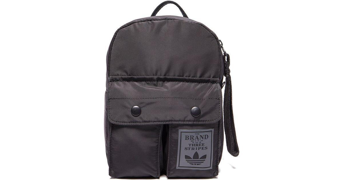 Lyst - adidas Originals Mini Classic Backpack in Black 934774c8235e1
