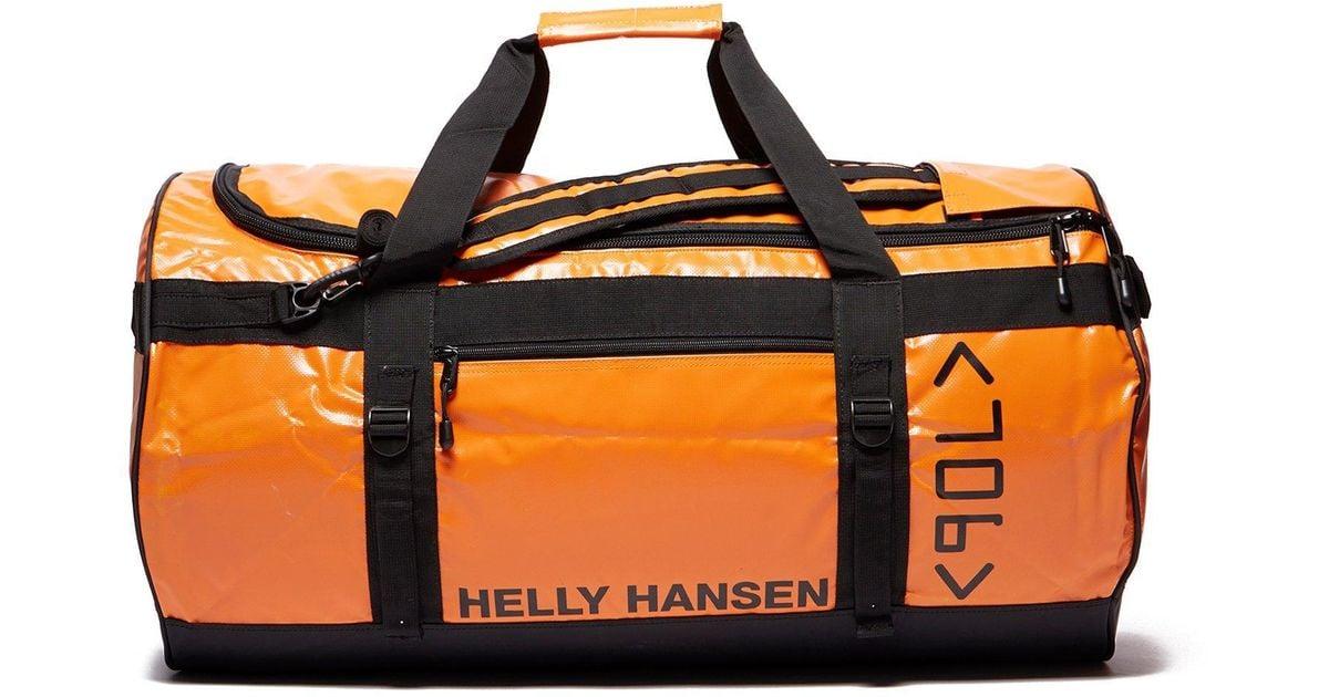 Y Hansen Orange Duffle Bag 90l For Men