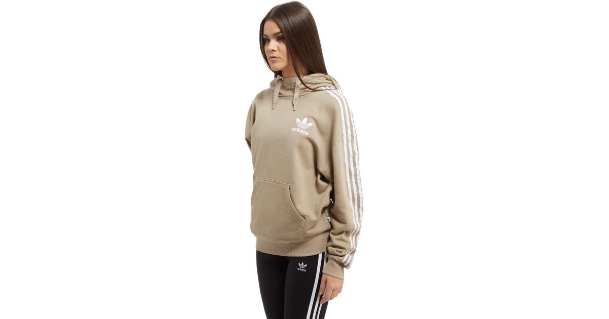 superior quality wholesale online incredible prices Adidas Originals Natural 3-stripes Overhead Hoodie