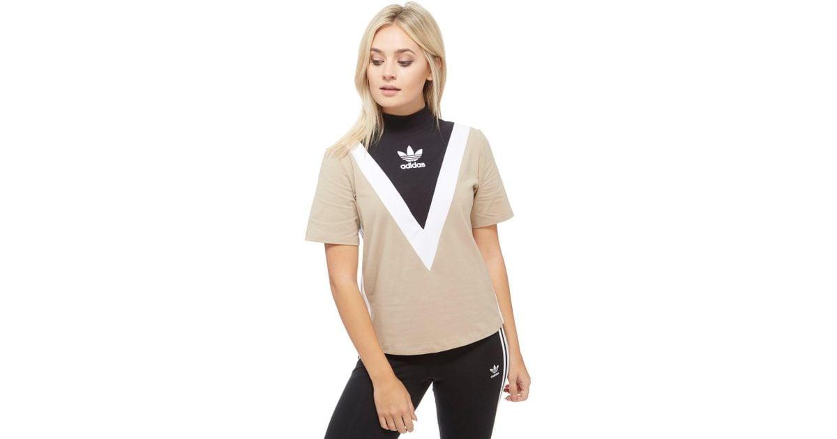 High Chevron Shirt T Neck Natural Adidas Originals 0XPwOk8n