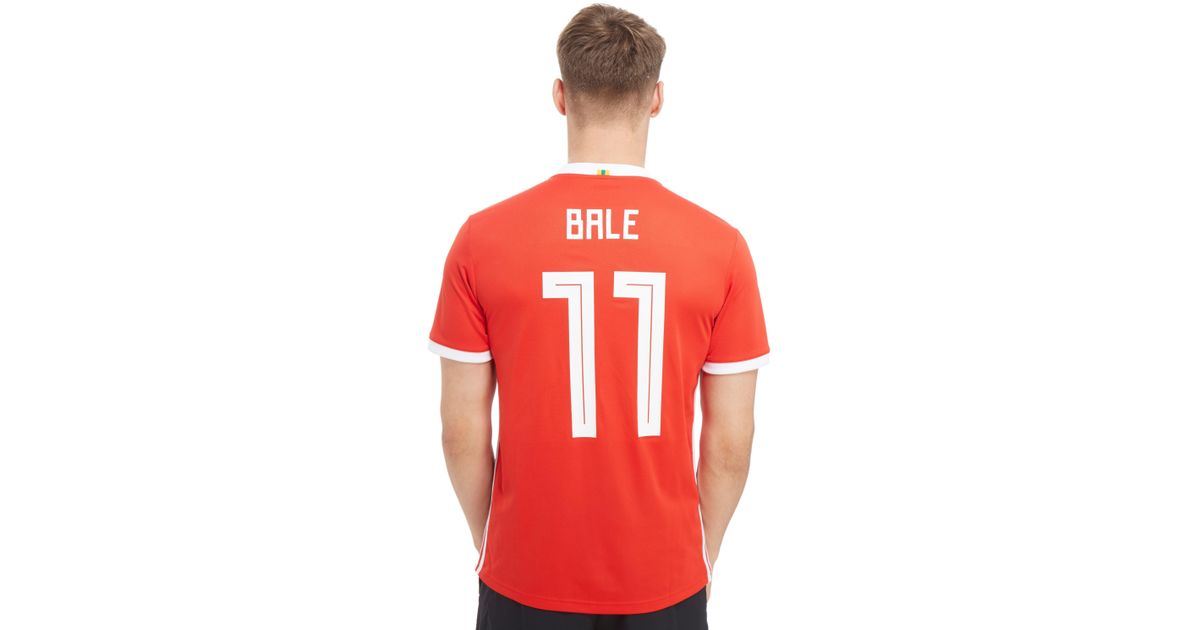 Adidas Wales Home 2018 Jersey 11 Bale