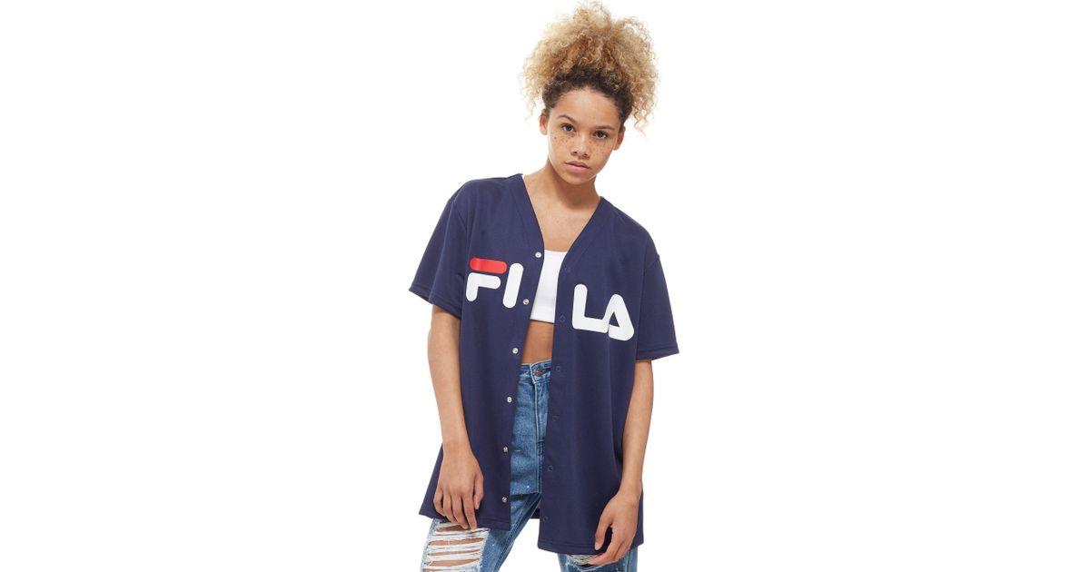 cb3738e95ad Fila Mesh Football T-shirt in Blue - Lyst