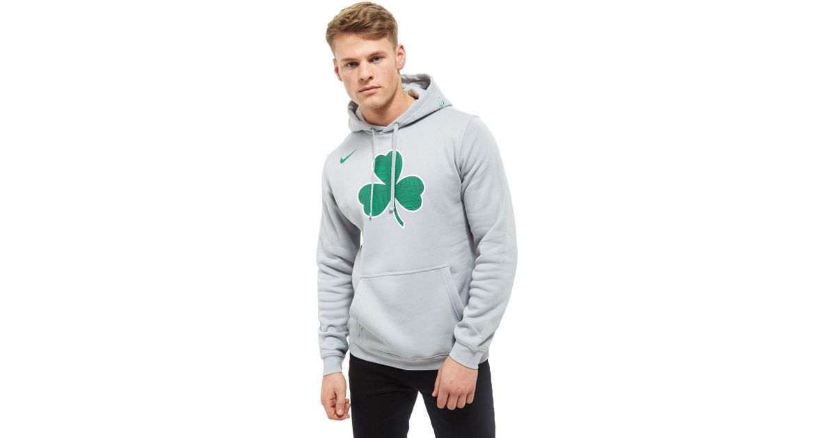 best service 36795 0ec46 Nike Gray Nba Boston Celtics City Hoodie for men