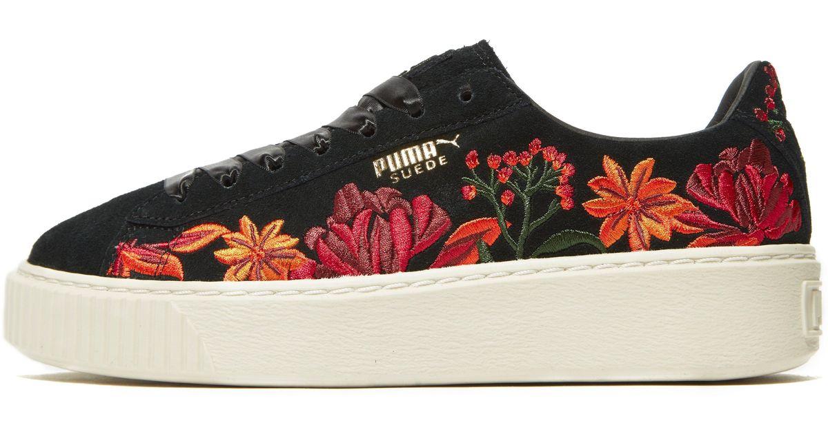 puma suede platform floral femme