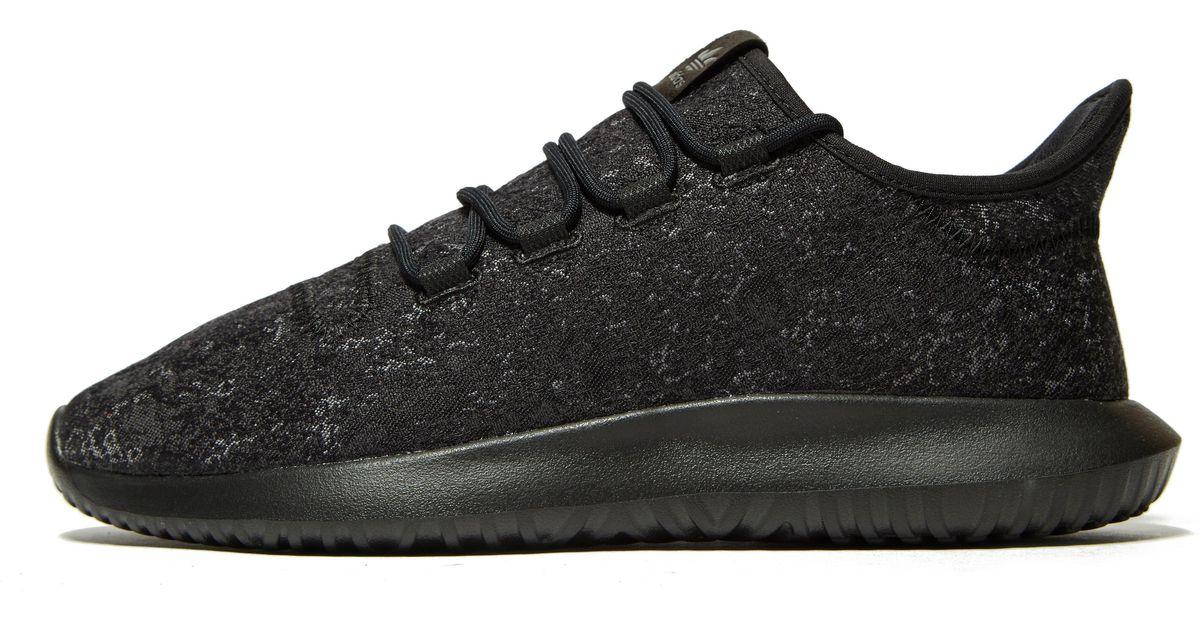 Adidas Originals Black Tubular Shadow Jacquard