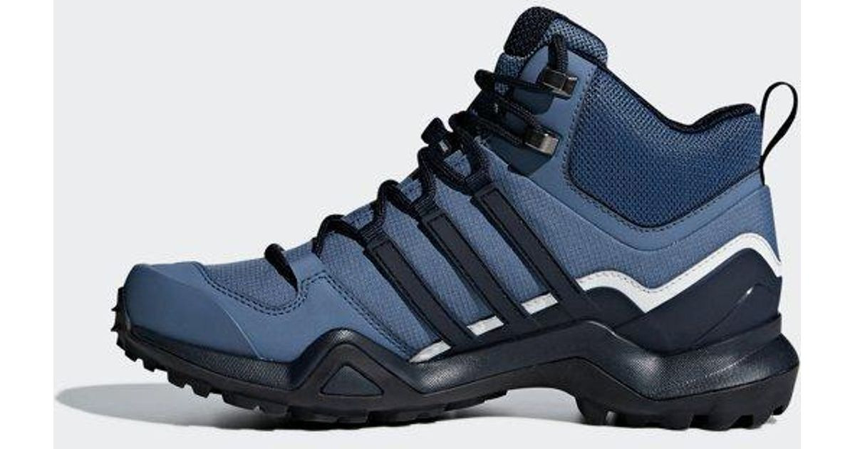 Adidas Blue Terrex Swift R2 Mid Gtx Shoes