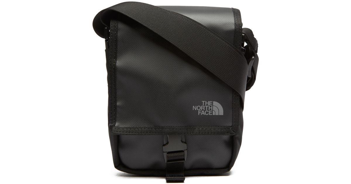 lyst the north face bardu messenger bag in black for men. Black Bedroom Furniture Sets. Home Design Ideas