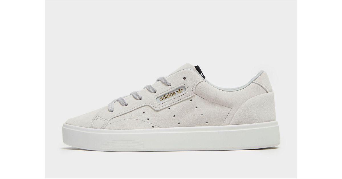 adidas Originals Leather Sleek in Grey