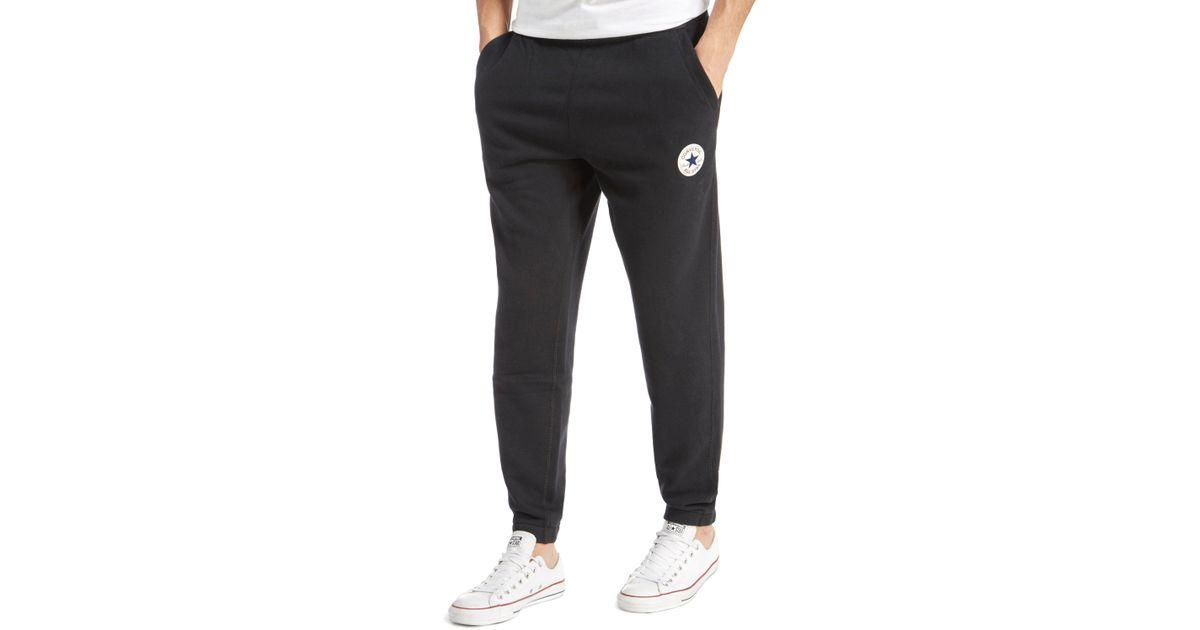 25a2de8c191b Lyst - Converse Chuck Fleece Jogging Pants in Black for Men