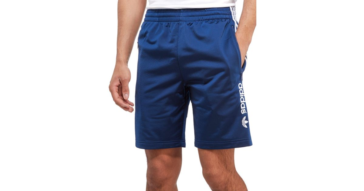 Adidas Originals Blue Firebird Linear Shorts for men
