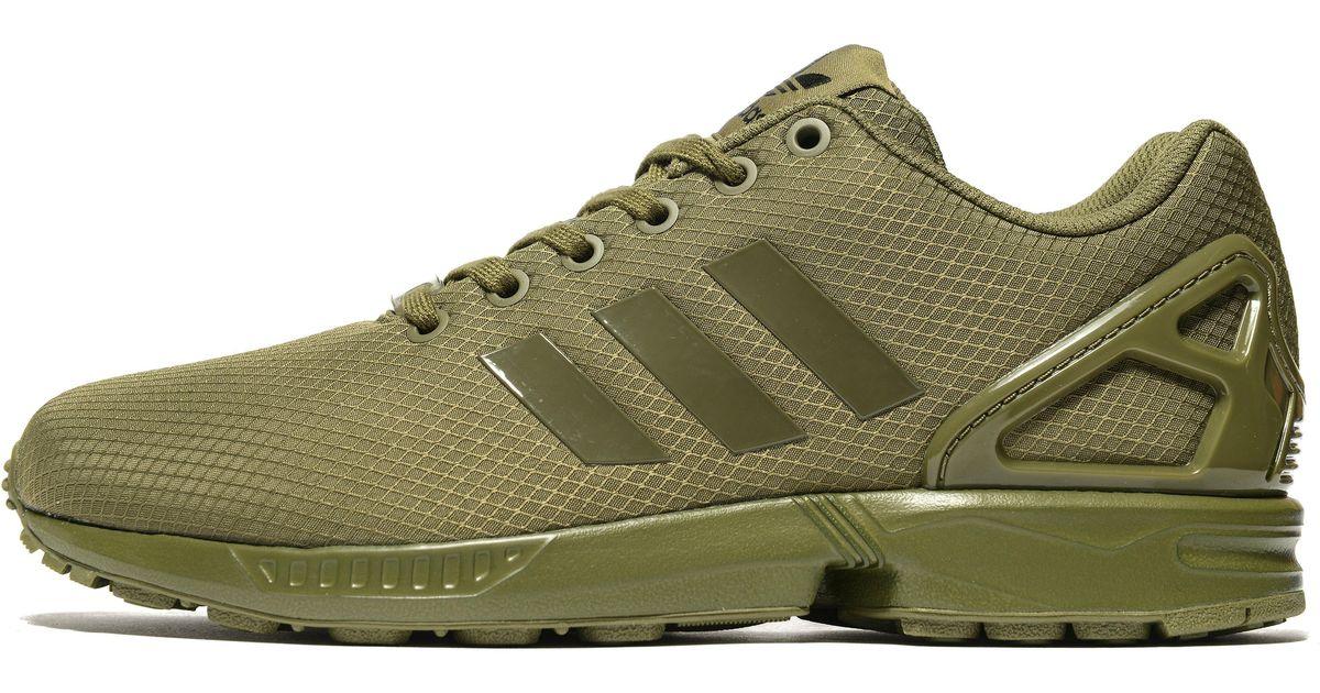 new concept a8357 fd562 Adidas Originals Green Zx Flux Ripstop for men